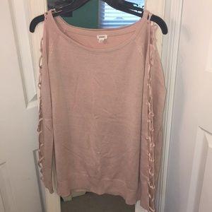 size small pink garage sweater
